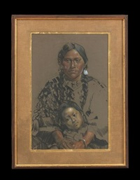 crow mother and child by ned jacob