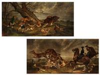 jagdbilder (pair) by hans kratzer