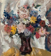 still life of a mixed bouquet by lena alexander