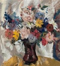 still life of a mixed bouquet by lena alexander
