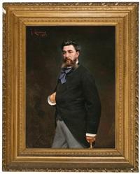 retrato de víctor vidal i morera by josep (josé) cusachs y cusachs