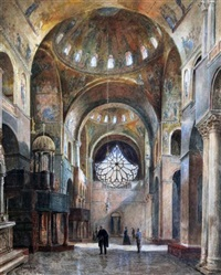 the interior of st. mark's, venice by franz alt