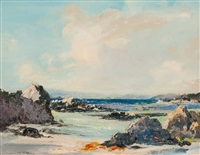 waves breaking on the shore by archibald kay