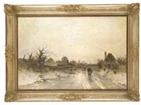 winterliche landschaft by heinz flockenhaus