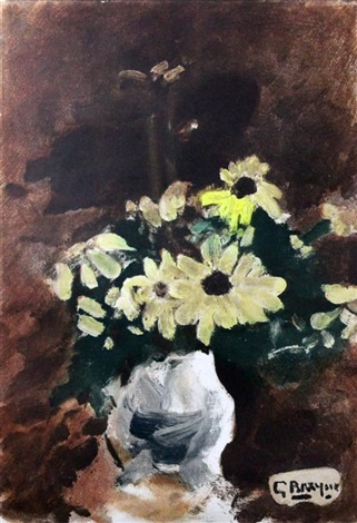 daisies in a vase by georges braque