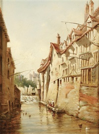 laundry day in normandy by tom campbell