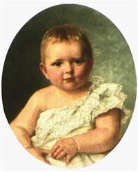 portrait eines reizenden kleinkindes by klara (clara) grosch
