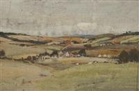 ayrshire landscape (possibly baltersan castle) by james kay