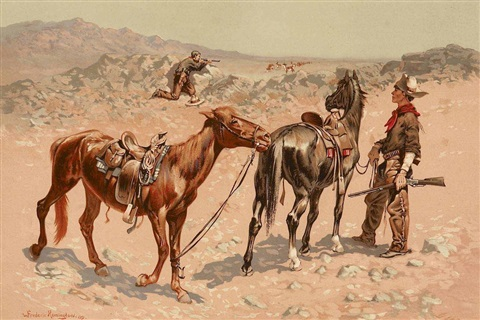 antelope hunting by frederic remington