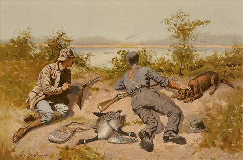 goose shooting by frederic remington