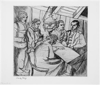fünf personen am tisch by charley toorop