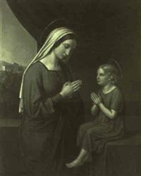 maria mit dem christuskind beim beten by joseph anton rhomberg