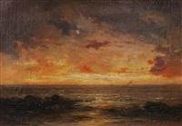 villers sur mer - solnedgång by gabriel hippolyte le bas