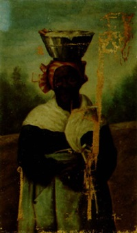 portrait of a black woman with a headkerchief by george joseph amede coulon