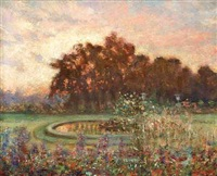 impressionistisk parklandskab by ioannis (jean h.) altamura