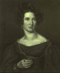 brustporträt einer vornehmen dame mit aufgestecktem haar by joseph anton rhomberg