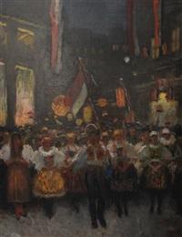 czech independence parade by frantisek naske