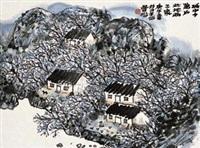 城中十万户 镜片 设色纸本 by lin fengsu