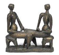 zwei sitzende by heinz leinfellner
