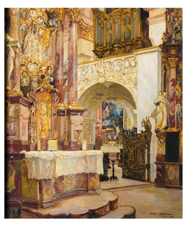 in der lorenzkirche in kempten by ernst liebermann