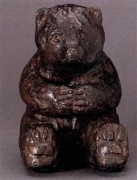 sittande brunbjörn by anders sandström