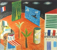 bodega/zanzibar by david hockney