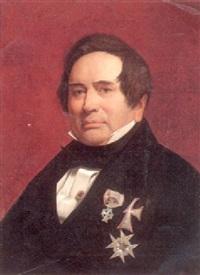 portræt af adam ohlenschläger i gallauniform med ordener by vilhelm (johan v.) gertner