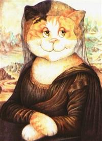 portrait einer katze nach mona lisa by alexandra smith