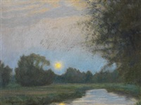 abend an der wümme by hermann angermeyer