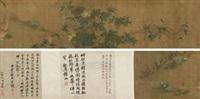 花竹鹌鹑图 by lin chun