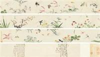 草虫花卉卷 by ma quan