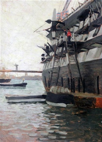 view alongside a war ship by james jacques joseph tissot