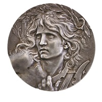 orpheus medal (4 works) by marie alexandre lucien coudray