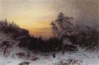sen eftermiddag i skoven, vinter by lotten von gegerfeldt