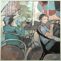 cafe scene by rise delmar ochsner