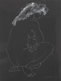 kniendes junges mädchen (+ bk illus.; 2 works) by hans erni