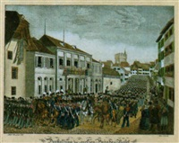 darstellung der grossen parade in basel/am 13ten merz 1831 by jakob senn