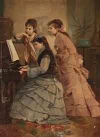 caba_antoni jóvenes tocando al piano by antonio caba y casamityana