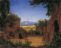 vesuvlandschaft by august wilhelm julius ahlborn