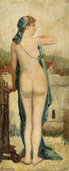 standing nude by françois lafon