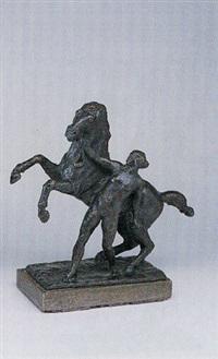 pferdebändigerin by georg hans (müller-rehm) müller