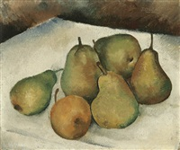 still life with pears by jacques dormont