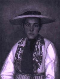 porträt einer trachtenfrau by hans staehli