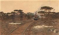 paisaje con tren by juan aldaz y sancho