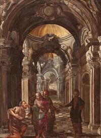 cristo y la curación del ciego by francesco battaglioli
