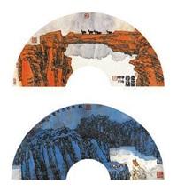 云岭·轻舟已过万重山 镜片 设色纸本 (2 works) by xiao yingchuan
