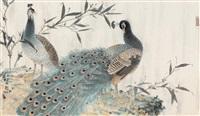 peacocks by xu xiaobing