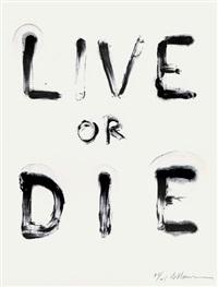 live or die (state i) / live or die (state ii) (2 works) by bruce nauman