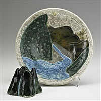 and raku-fired bowl with insert by wayne higby