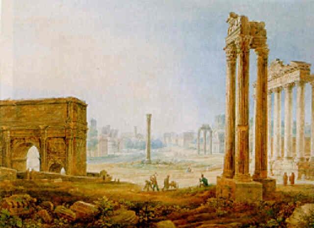 blick auf das forum romanum by henri lévêque